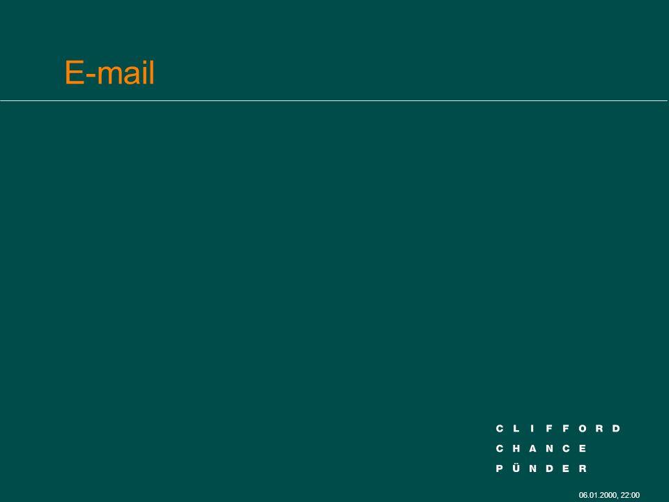 06.01.2000, 22:00 E-mail