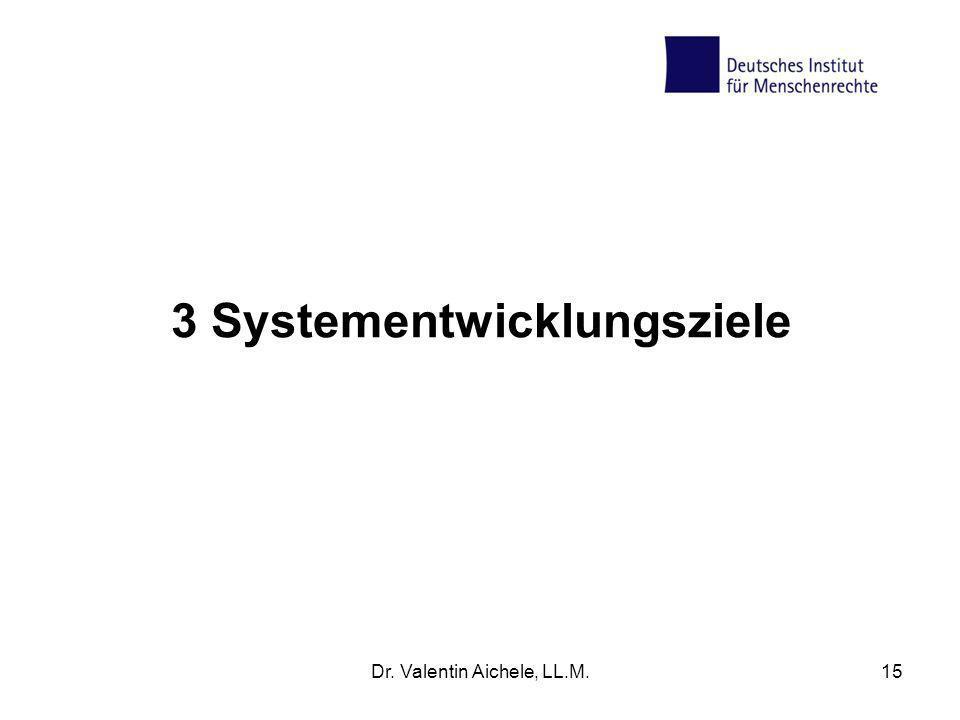 3 Systementwicklungsziele Dr. Valentin Aichele, LL.M.15