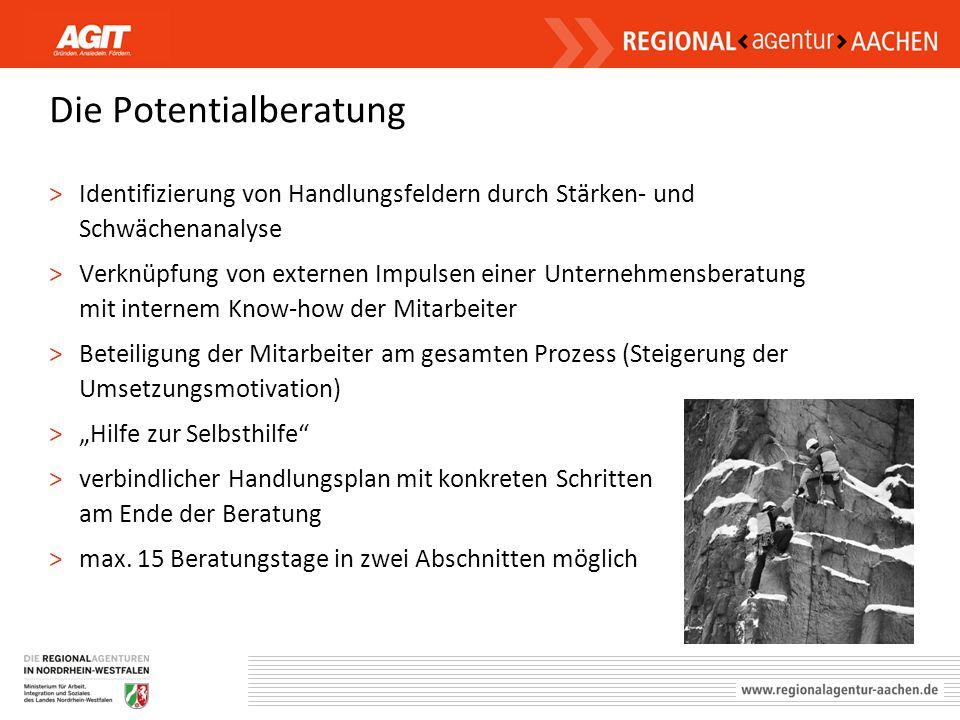 Die Potentialberatung >Identifizierung von Handlungsfeldern durch Stärken- und Schwächenanalyse >Verknüpfung von externen Impulsen einer Unternehmensb
