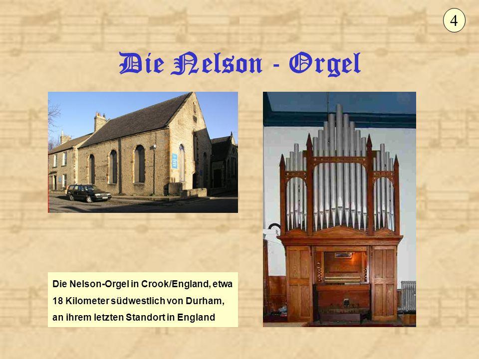 Die Nelson - Orgel 15 Das Orgelwerk übernimmt die Funktion einer Chororgel, wird aufgrund seiner Disposition und Klangfülle aber durchaus konzertanten Aufgaben gerecht.