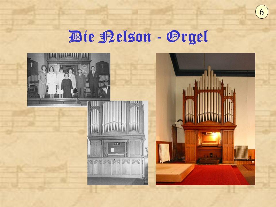 7 Die Nelson-Orgel ist beim Orgeleinkäufer Ladach in Wuppertal aufgebaut