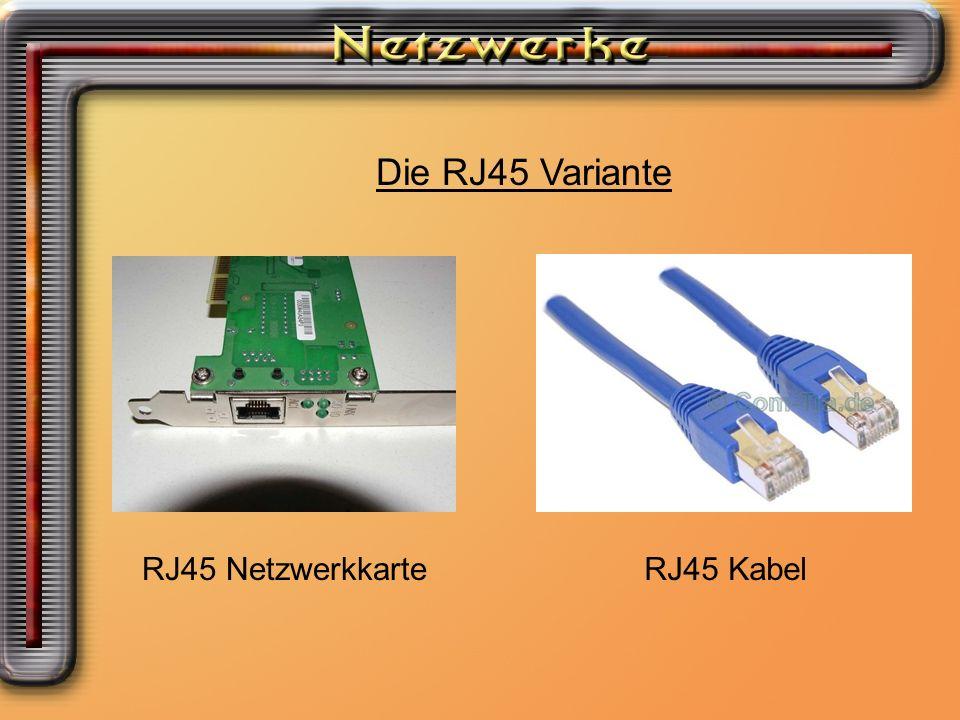 Die RJ45 Variante RJ45 NetzwerkkarteRJ45 Kabel