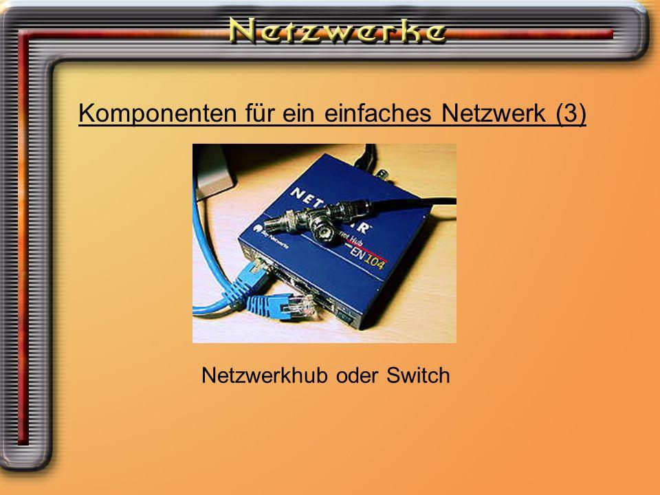 Welche Möglichkeiten ein Netzwerk aufzubauen habe ich.