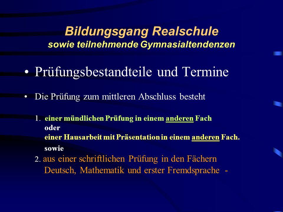 Bildungsgang Realschule sowie teilnehmende Schüler/innen mit Gymnasialtendenz Verordnung über die Bildungsgänge der Mittelstufe Heinrich von Brentano