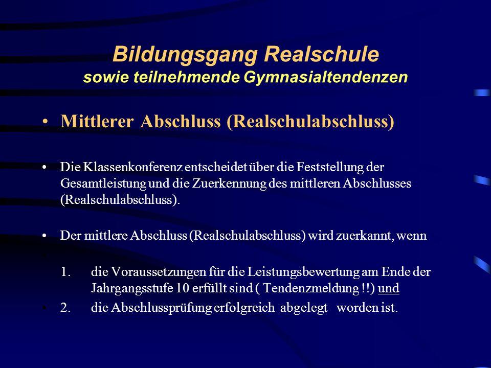Bildungsgang Realschule sowie teilnehmende Gymnasialtendenzen schriftliche Prüfung in den Fächern Deutsch, Mathematik und erster Fremdsprache Termine:
