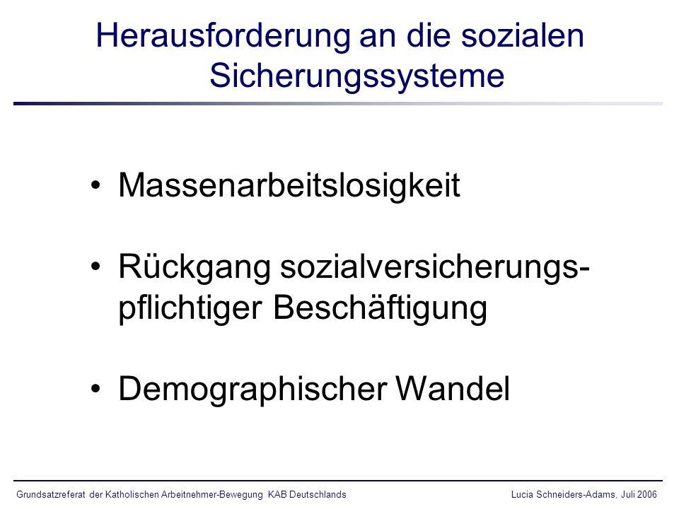 Solidarische Alterssicherung Die 3 Stufen des Rentenmodells Volksversicherung für alle EinwohnerInnen 1.