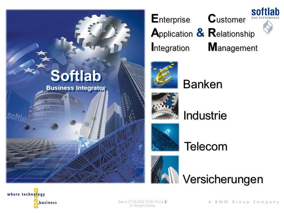 Strategie IT- Lösung Der Umsetzung integrativer Geschäftsstrategien ist eins gemeinsam: EAI EAI (Enterprise Application Integration) ist der Prozeß, der die konsequente Ausrichtung der IT-Systeme auf integrative Geschäftsstrategien ermöglicht.