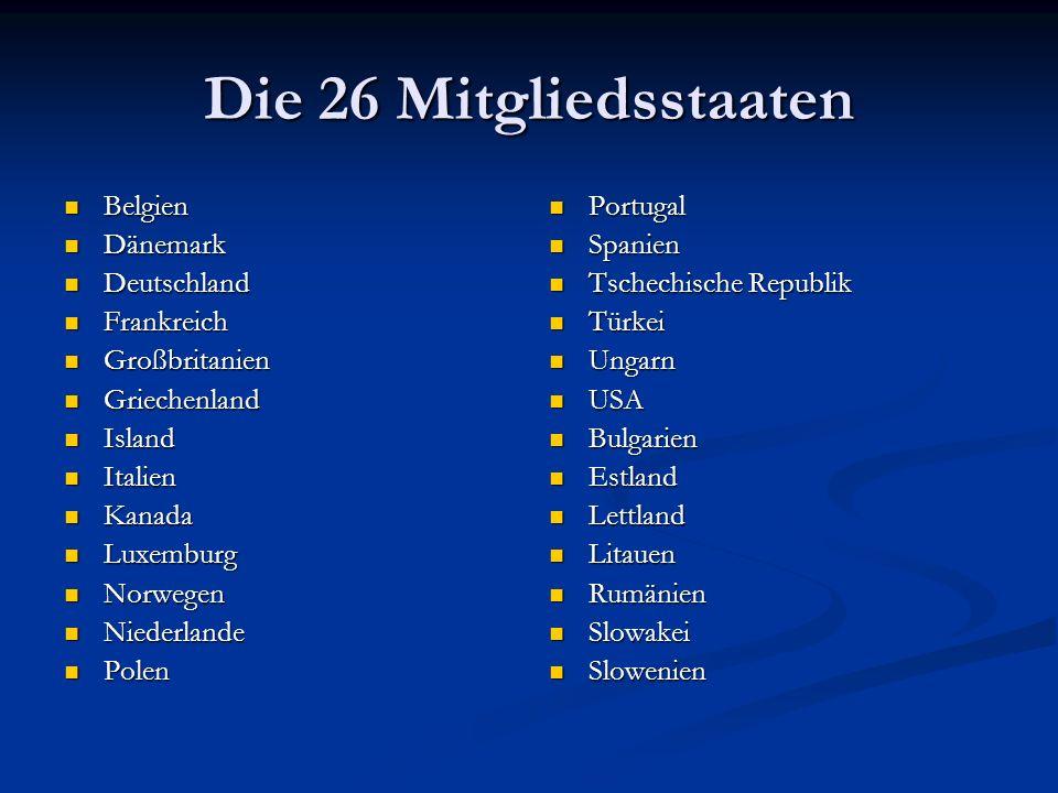 Zusammenfassung: Die NATO Ist eine Gemeinschaft freier demokratischer Staaten Ist eine Gemeinschaft freier demokratischer Staaten Dient dem Schutz und der Bewahrung gemeinsamer Grundwerte Dient dem Schutz und der Bewahrung gemeinsamer Grundwerte Friedliche Beilegung von Streitigkeiten Friedliche Beilegung von Streitigkeiten Schreckt vor Drohung & Aggression ab Schreckt vor Drohung & Aggression ab Verknüpft die Sicherheit Europas mit der Nordamerikas Verknüpft die Sicherheit Europas mit der Nordamerikas Ist die Grundlage für die Sicherheit Deutschlands Ist die Grundlage für die Sicherheit Deutschlands