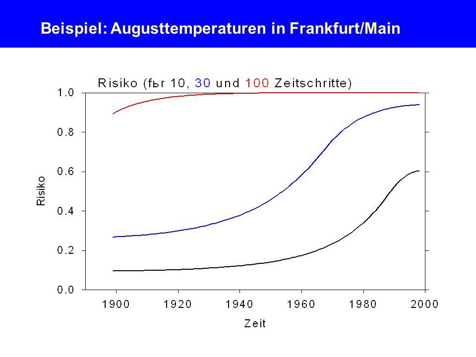 Beispiel: Augusttemperaturen in Frankfurt/Main