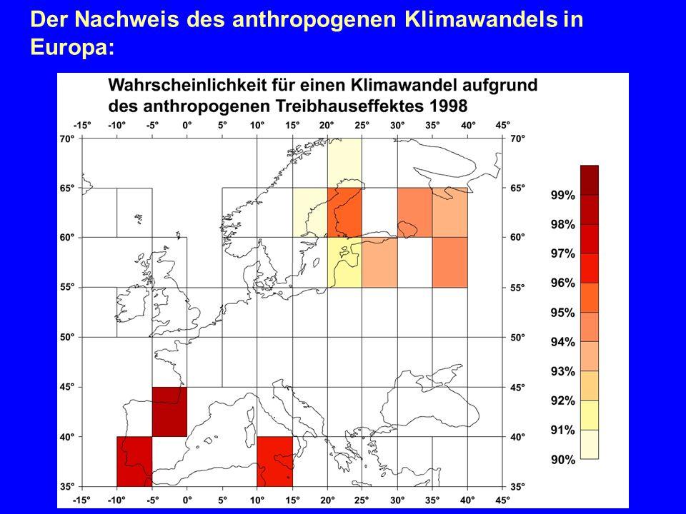 Der Nachweis des anthropogenen Klimawandels in Europa: