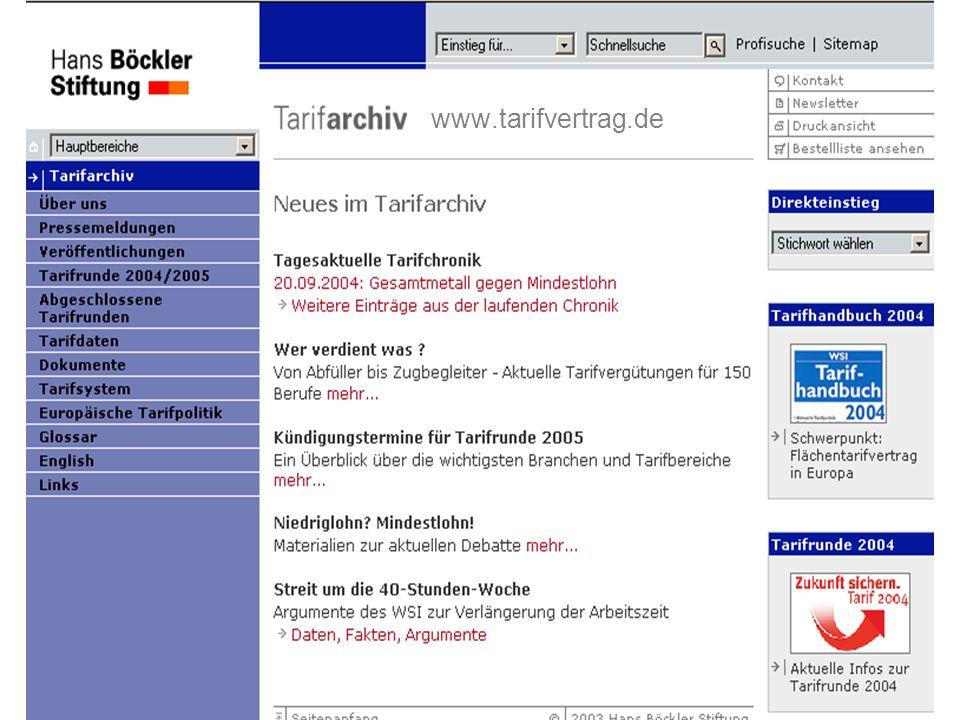 Dr. Reinhard Bispinck www.tarifvertrag.de