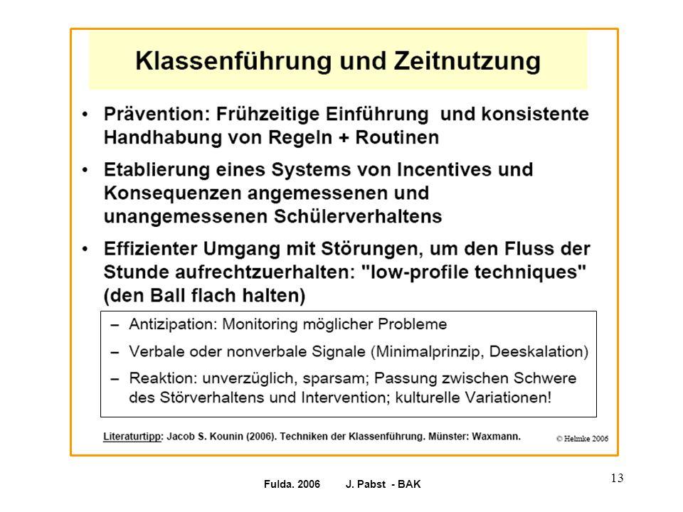 Fulda. 2006 J. Pabst - BAK 13