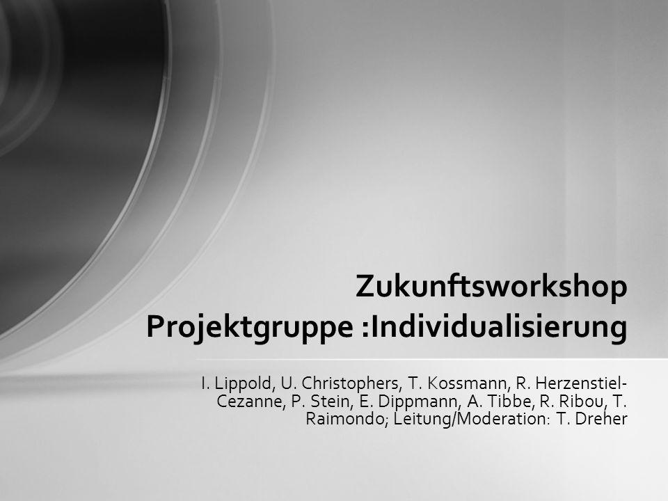 I. Lippold, U. Christophers, T. Kossmann, R. Herzenstiel- Cezanne, P. Stein, E. Dippmann, A. Tibbe, R. Ribou, T. Raimondo; Leitung/Moderation: T. Dreh