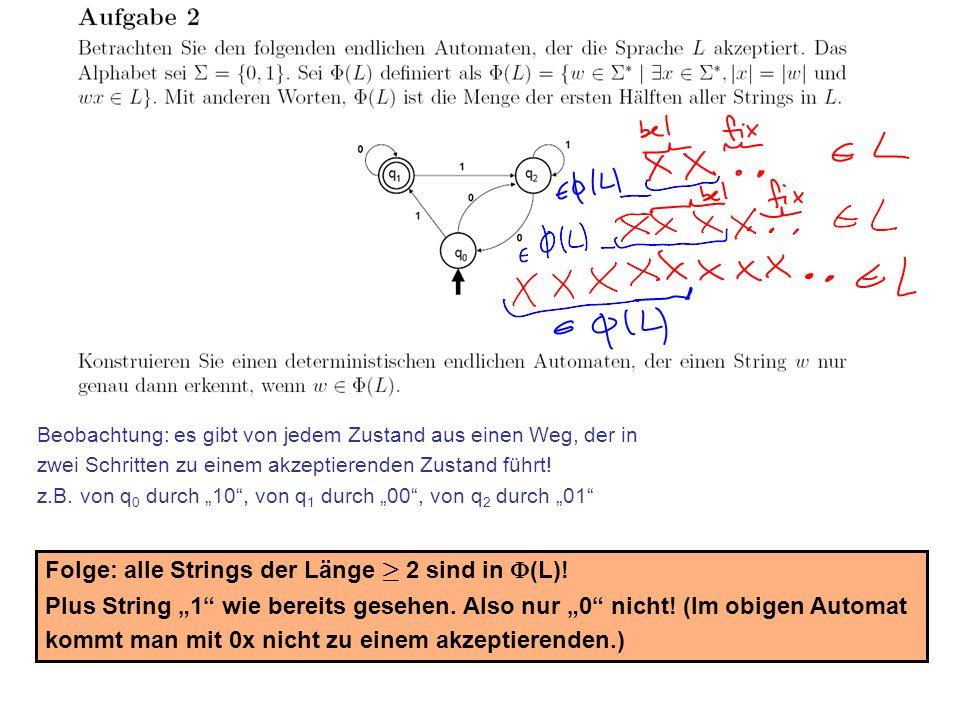 Stefan Schmid @ TU München, 200821 Beobachtung: es gibt von jedem Zustand aus einen Weg, der in zwei Schritten zu einem akzeptierenden Zustand führt!