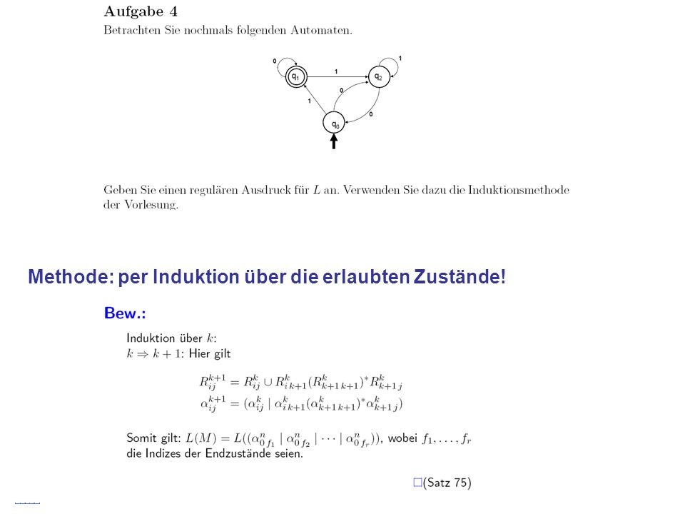 Stefan Schmid @ TU München, 200825 Methode: per Induktion über die erlaubten Zustände!