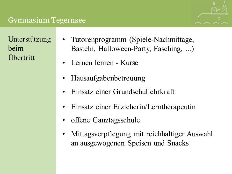Intensivierung Förderkurse in den Hauptfächern: -Englisch -Französisch -Deutsch -Latein -Spanisch -Mathematik Gymnasium Tegernsee
