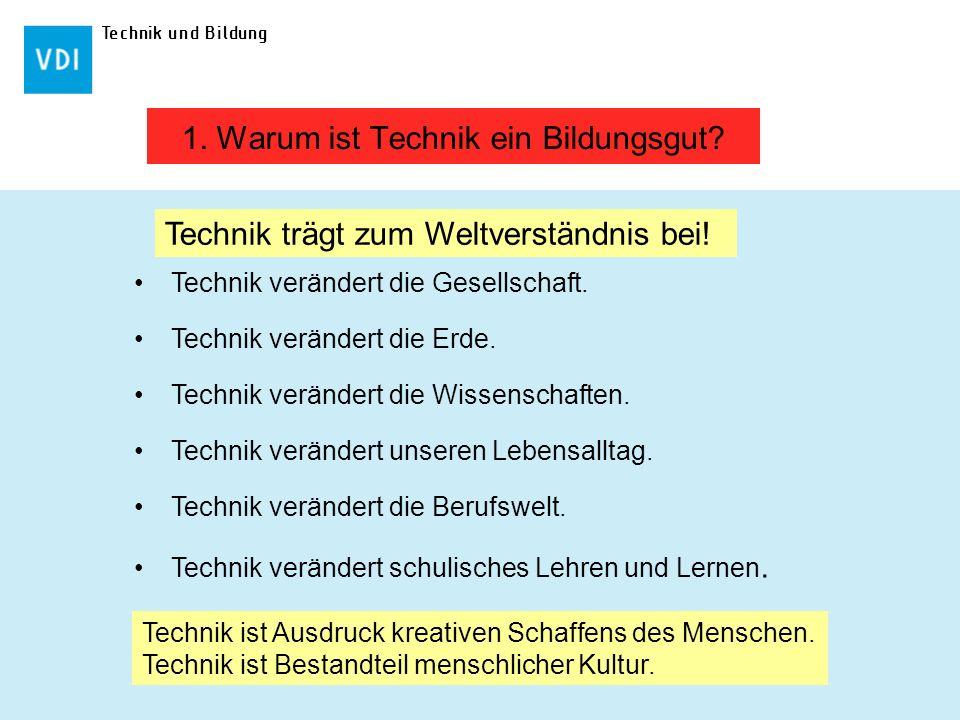 Technik und Bildung Technik verändert die Gesellschaft. Technik verändert die Erde. Technik verändert die Wissenschaften. Technik verändert unseren Le