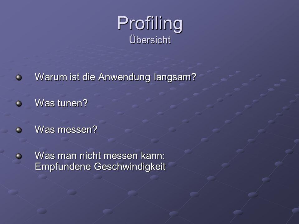 Profiling Tools JConsole (benutzt JMX)