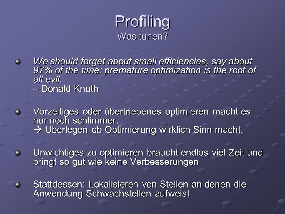 Profiling Tools Taskmanager