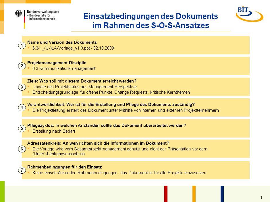 Präsentation für (Unter-)Lenkungsausschuss Kompetenzzentrum Großprojektmanagement (CC GroßPM) – Generische Vorlage –