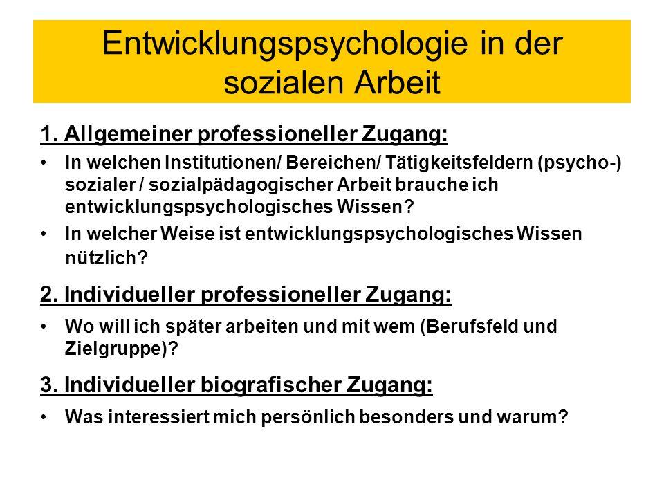 Abgrenzung zu Nachbardisziplinen gegenüber Bindestrich-Psychologien gegenüber Sozialisationstheorien/ Sozialwissenschaften gegenüber der Erziehungswissenschaft allgemeine und spezielle/ differentielle Entwicklungspsychologie