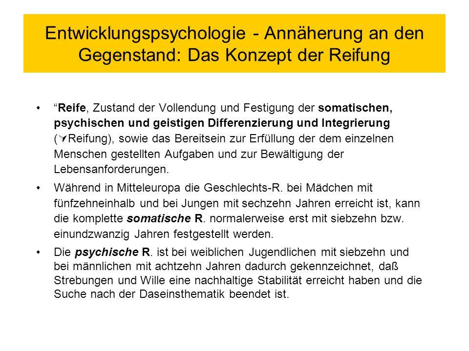 Entwicklungspsychologie - Einführung Definitorisches/ Entwicklung des Faches/ Gegenstand Semesterübersicht/ Zur Anlage der Lehrveranstaltung Entwicklungspsychologie in den Feldern sozialer Arbeit