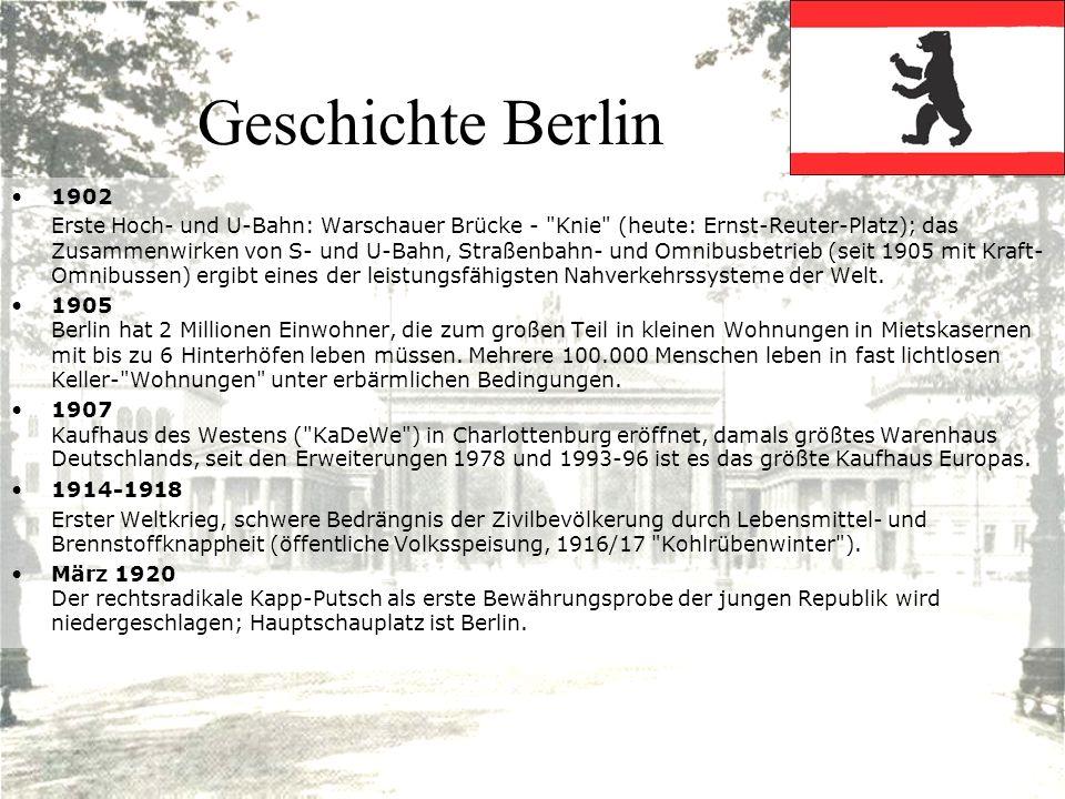 Geschichte Berlin 1902 Erste Hoch- und U-Bahn: Warschauer Brücke -