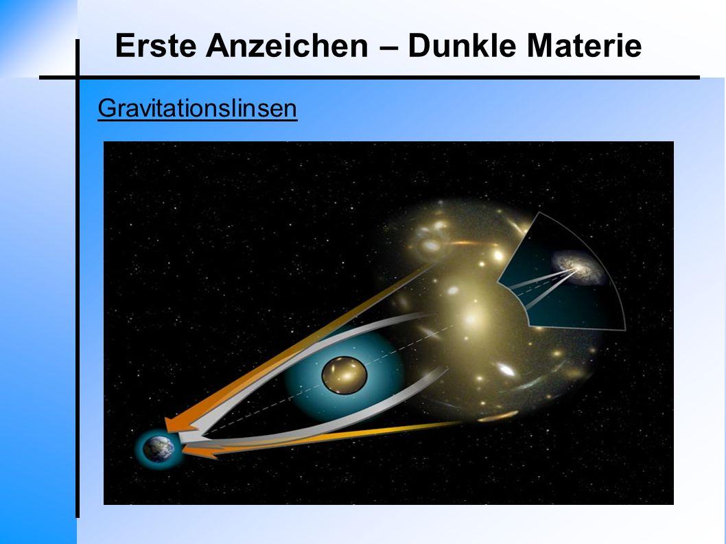 Erste Anzeichen – Dunkle Materie Gravitationslinsen