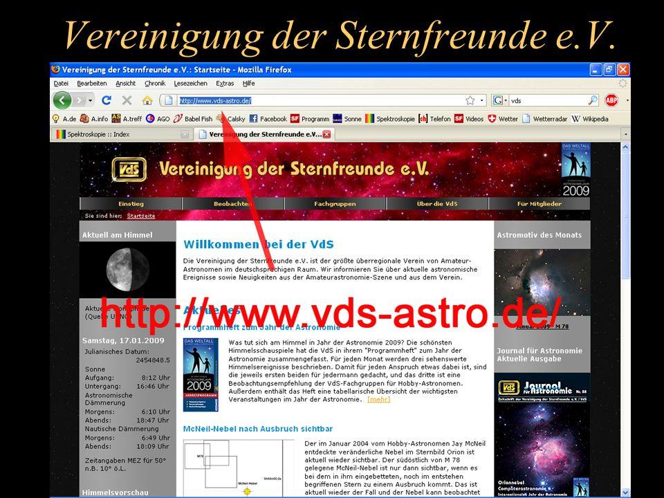 Vereinigung der Sternfreunde e.V.