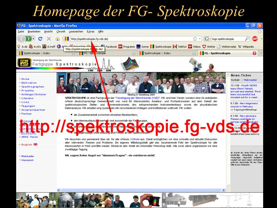 Homepage der FG- Spektroskopie