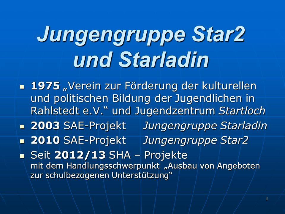 1 Jungengruppe Star2 und Starladin 1975 Verein zur Förderung der kulturellen und politischen Bildung der Jugendlichen in Rahlstedt e.V. und Jugendzent