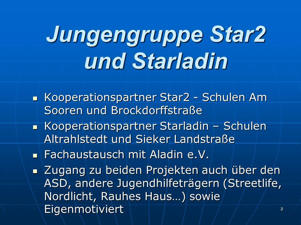 2 Jungengruppe Star2 und Starladin Kooperationspartner Star2 - Schulen Am Sooren und Brockdorffstraße Kooperationspartner Star2 - Schulen Am Sooren un