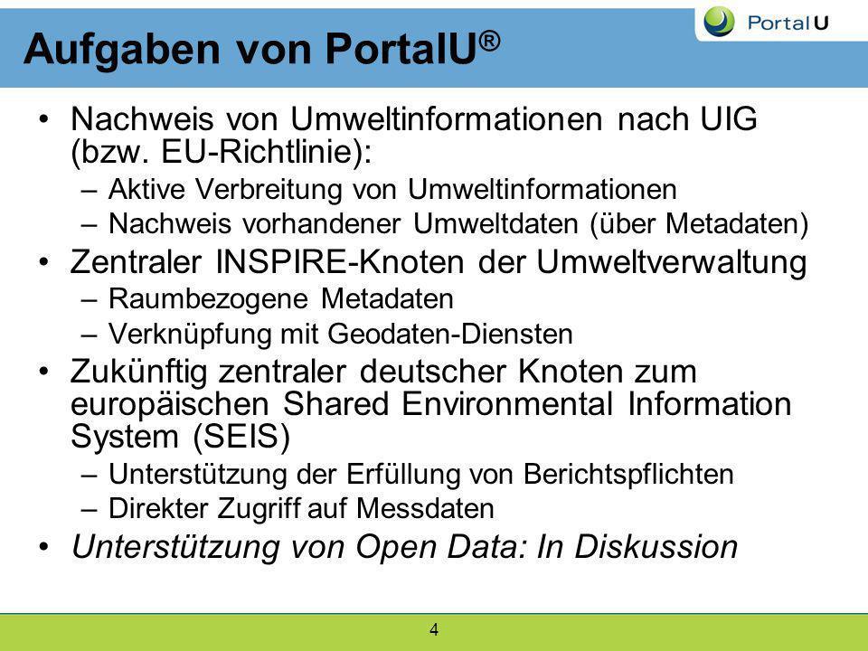 4 Nachweis von Umweltinformationen nach UIG (bzw. EU-Richtlinie): –Aktive Verbreitung von Umweltinformationen –Nachweis vorhandener Umweltdaten (über