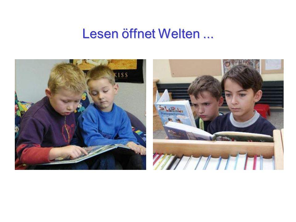 Lesen öffnet Welten...