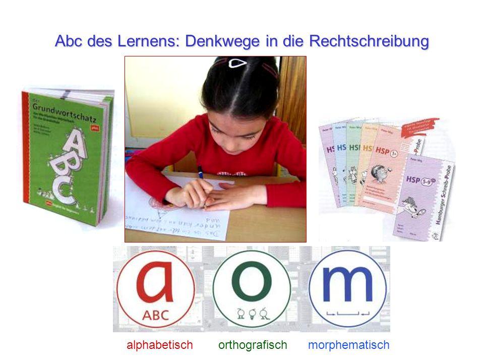 Abc des Lernens: Denkwege in die Rechtschreibung alphabetisch orthografisch morphematisch