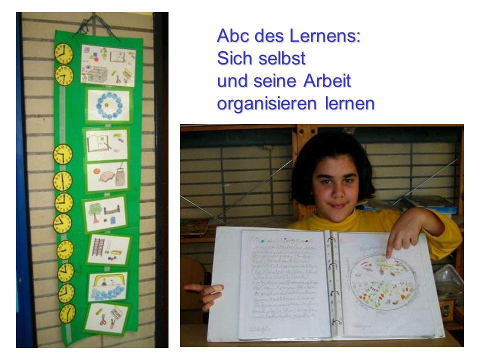 Abc des Lernens: Sich selbst und seine Arbeit organisieren lernen