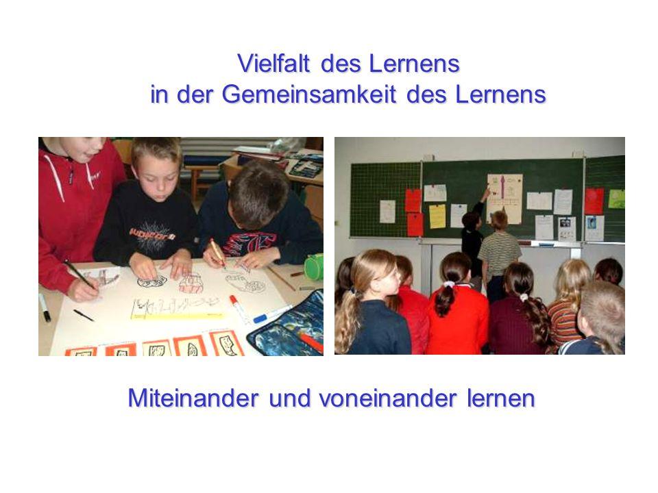 Miteinander und voneinander lernen Vielfalt des Lernens in der Gemeinsamkeit des Lernens