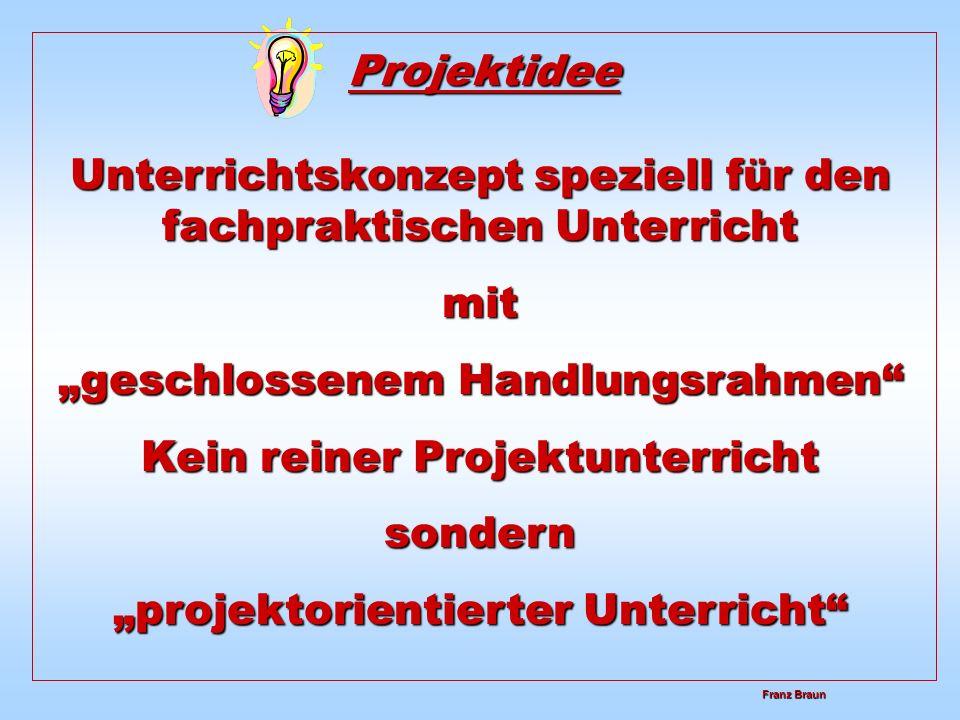 Franz Braun Franz Braun Unterrichtsskizze im Rahmen der Projektarbeit Formel I Rennwagen Thema: Wir brauchen Normteile für die Montage der Formel I Rennwagen