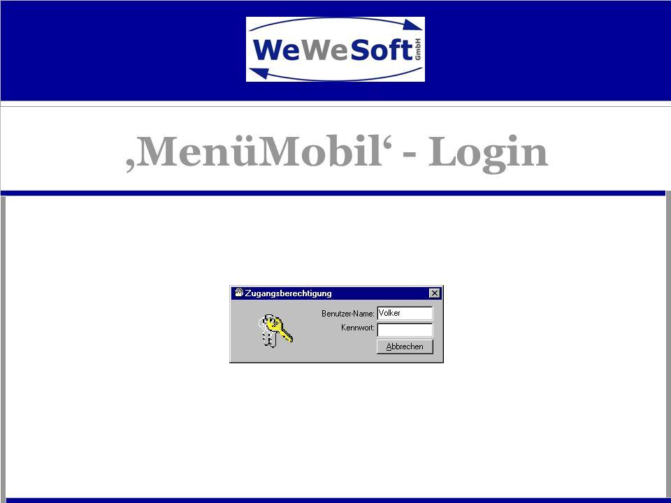MenüMobil - Login