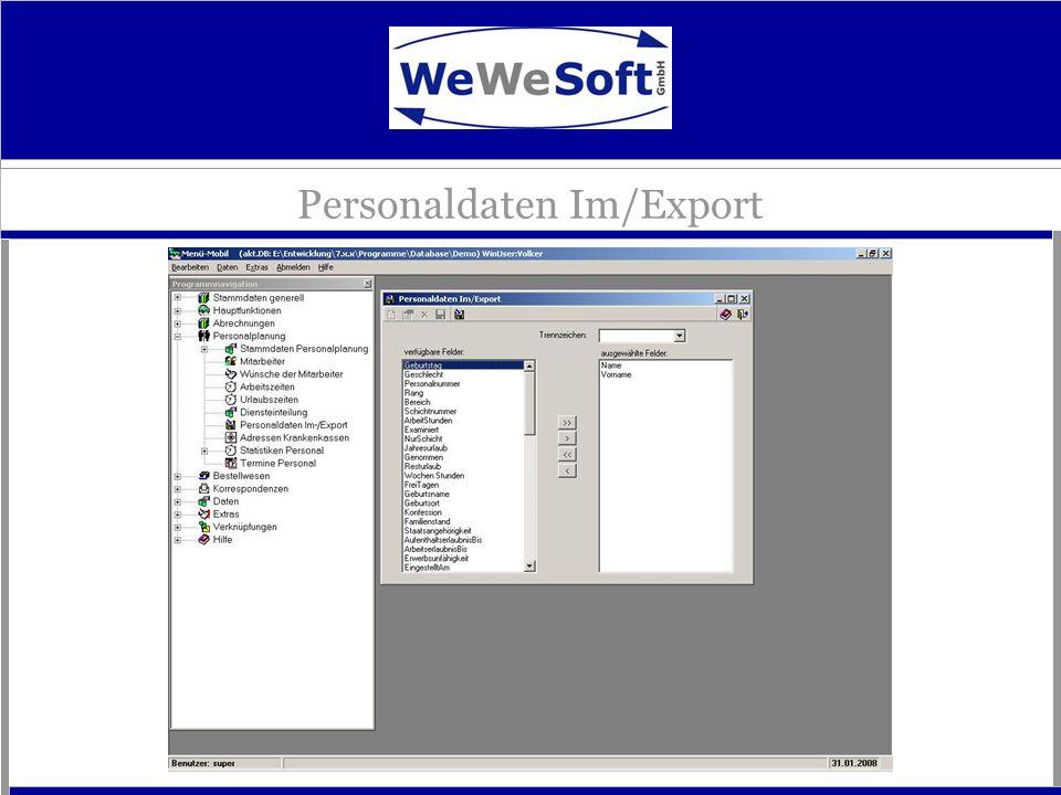 Personaldaten Im/Export