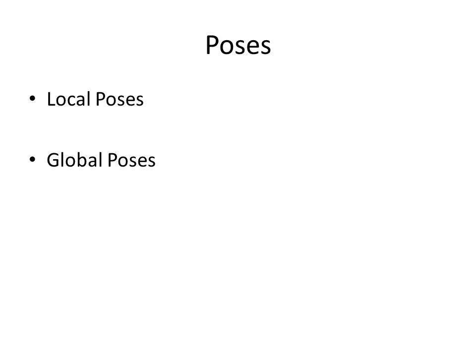 Poses Local Poses Global Poses