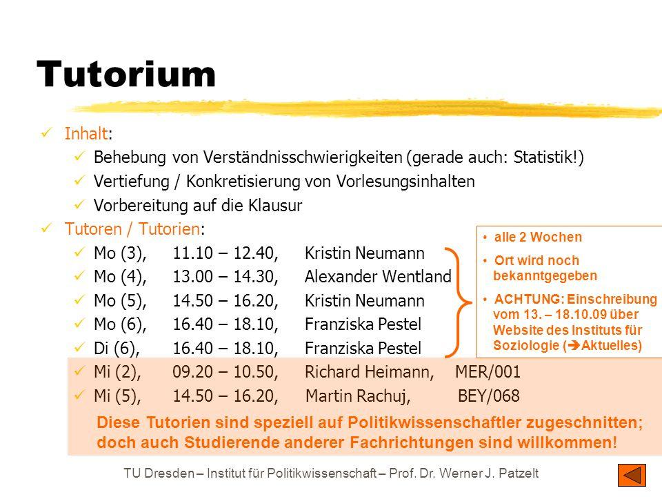 Inhalt: Behebung von Verständnisschwierigkeiten (gerade auch: Statistik!) Vertiefung / Konkretisierung von Vorlesungsinhalten Vorbereitung auf die Kla