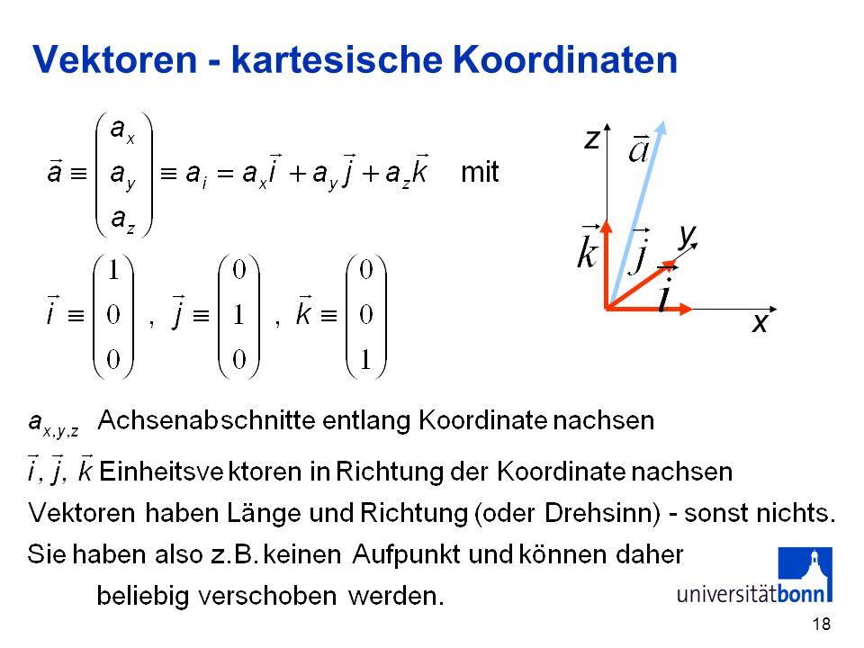 18 Vektoren - kartesische Koordinaten x z y
