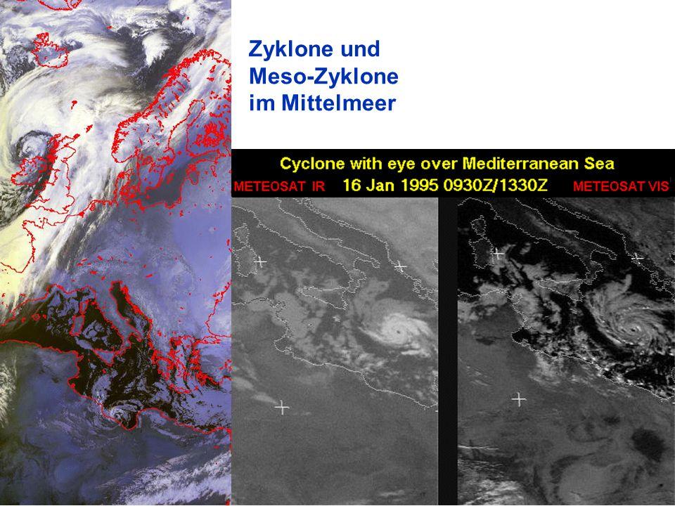 56 Zyklone und Meso-Zyklone im Mittelmeer