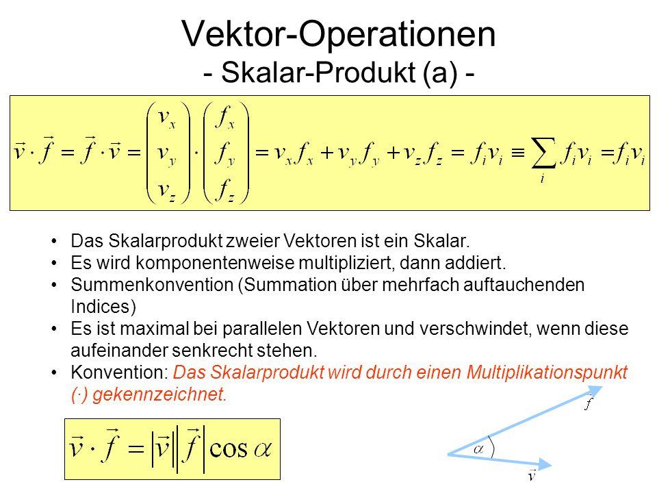 Vektor-Operationen - Betrag (Länge) eines Vektors und das Skalar-Produkt (b) -