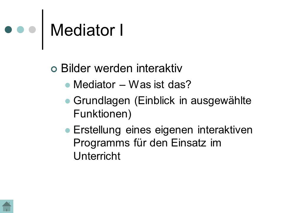Mediator I Bilder werden interaktiv Mediator – Was ist das.