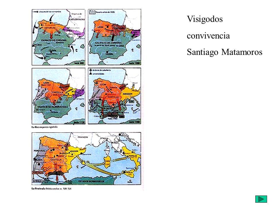 Visigodos convivencia Santiago Matamoros