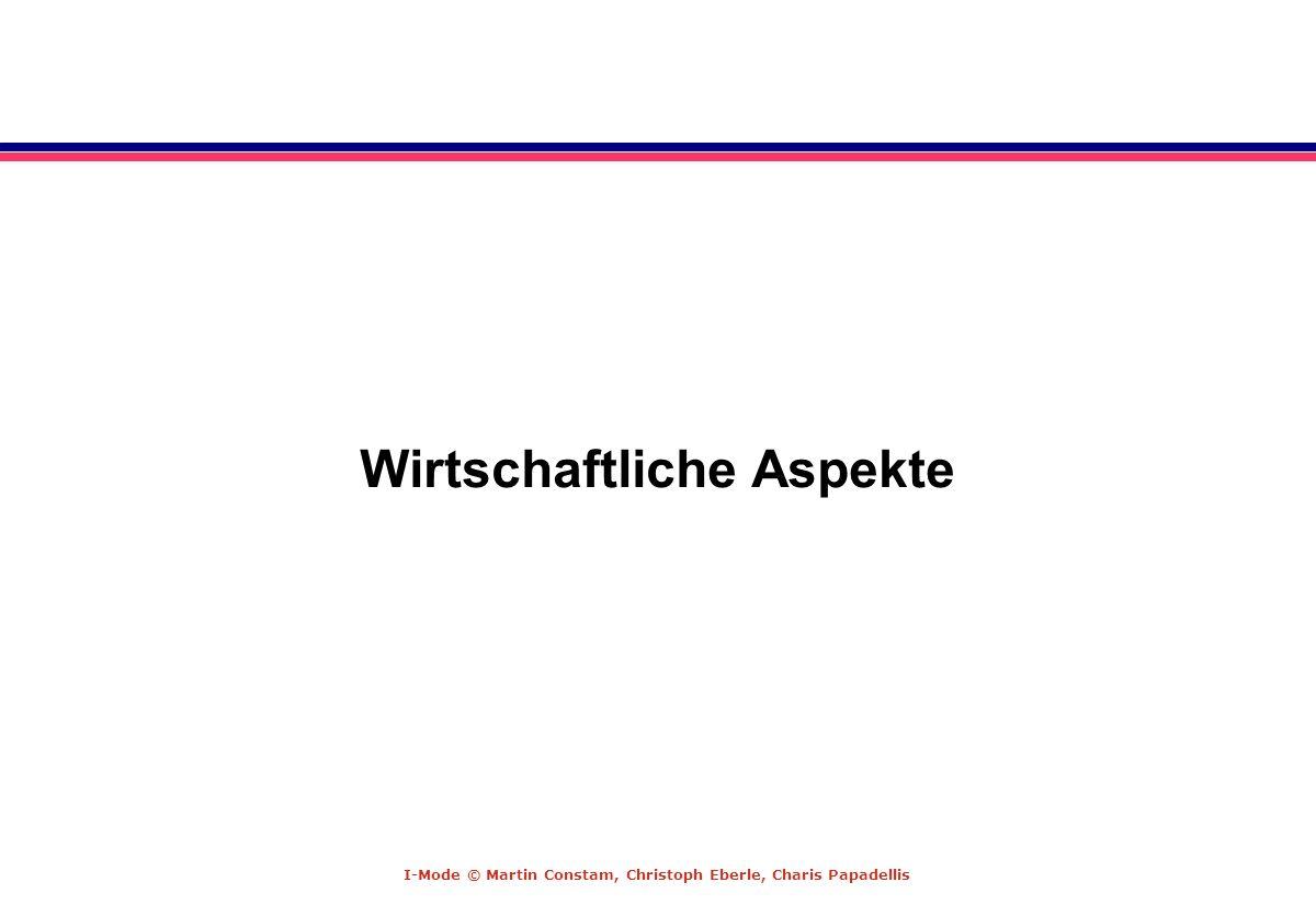 I-Mode © Martin Constam, Christoph Eberle, Charis Papadellis Wirtschaftliche Aspekte