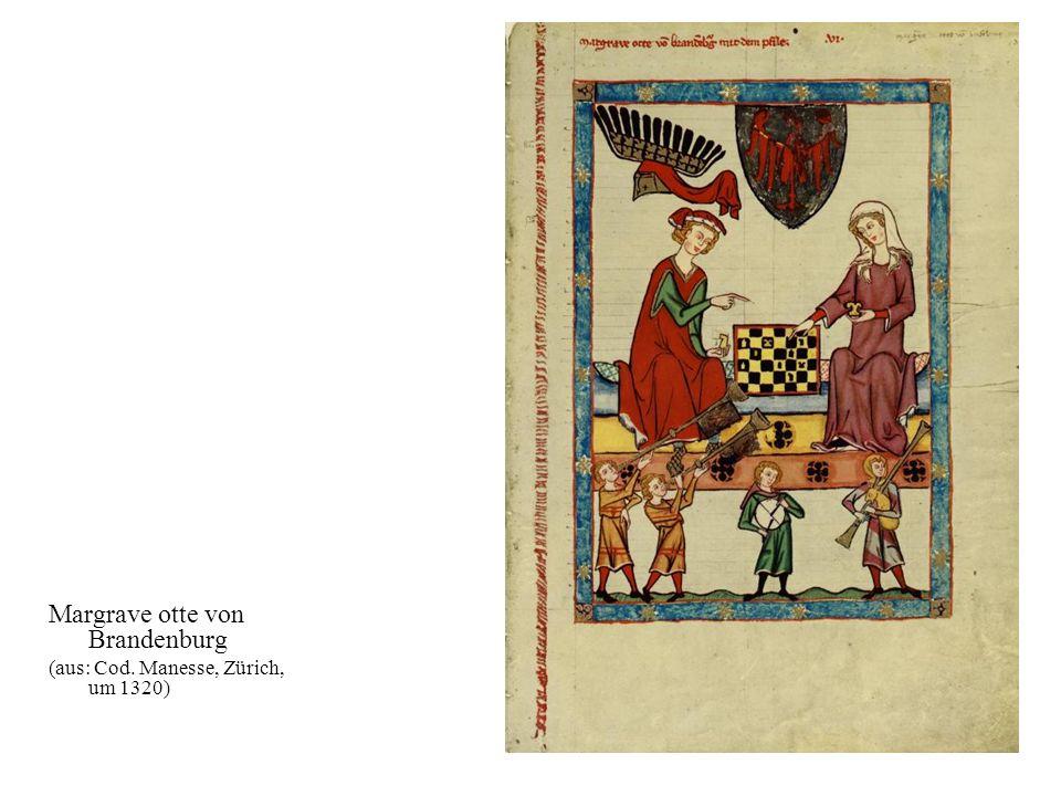 23 Margrave otte von Brandenburg (aus: Cod. Manesse, Zürich, um 1320)