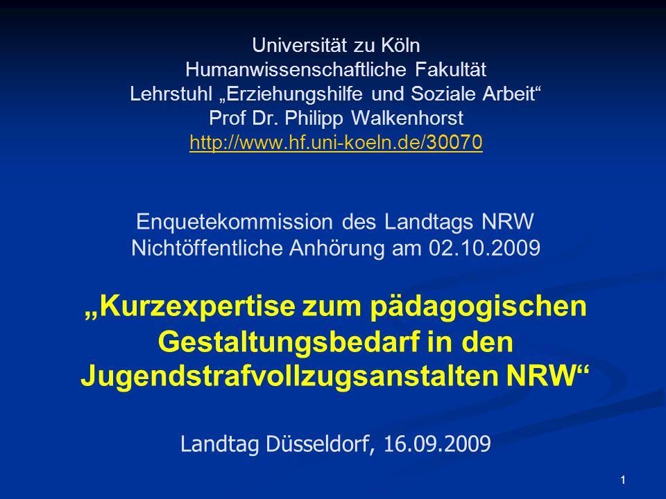 1 Universität zu Köln Humanwissenschaftliche Fakultät Lehrstuhl Erziehungshilfe und Soziale Arbeit Prof Dr. Philipp Walkenhorst http://www.hf.uni-koel